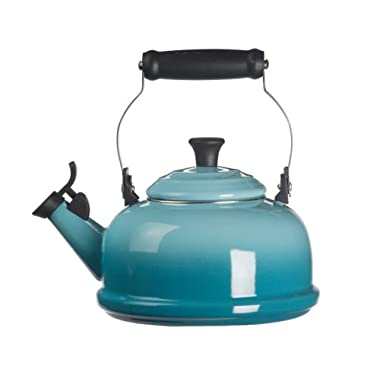 Le Creuset Enamel-on-Steel Whistling 1-4/5-Quart Teakettle, Caribbean