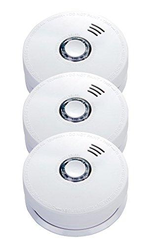 Jeising GS508 3er Set Rauchmelder/Brandmelder/ 10 Jahres Batterie fest verbaut VdS zertifiziert EN14604:2005/AC-2008