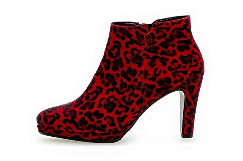 Gabor Basic Stiefeletten in Übergrößen Rot 35.860.35 große Damenschuhe, Größe:42.5