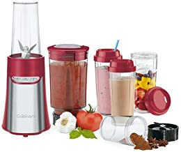 Cuisinart CPB-300RA Portable Compact Blender and Chopping System, Red