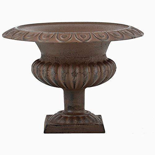 linoows Kratervase, Garten-Amphore, Französische Vase im Antik Stil, Gusseisen 28 cm