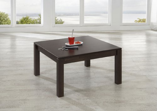 SAM® Couch Tisch Wanda massiv in wenge gebeizt und lackiert 80 x 80 x 43 cm Massivholz Couchtisch Buche