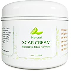 SCAR REMOVAL CREAM and stretch mark remover is for old scars or new scar treatment. Antioxidant and omega 3 rich shea butter and coconut oil repair skin and prevent keloid scar tissue from forming LOOK YOUNGER WITH THIS EMOLLIENT skin moisturizer ric...