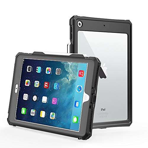 『【第8世代】iPad 10.2 防水ケース,IP69K規格 超強防水 防雪 防塵 耐衝撃 指紋認識機能 薄型 軽量 全面保護 充電可能 スタンド機能, 水場 お風呂 海辺 アウトドア スポーツ プール タブレット防水ケース (iPad第8世代)』のトップ画像