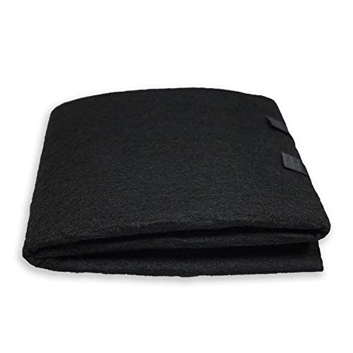 PUREBURG Carbon Filter,Cut-to-Fit Carbon Pad 16 x 48 inches for Air Filter Charcoal Sheet fits Range Hoods Furnace Filters removes Odor VOC Parts Accessories Replacement,1-Pack