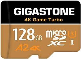 【5年データ回復保証】【Nintendo Switch対応】 Gigastone マイクロSDカード 128GB Micro SD Card, 4K Game Turbo, Switch SDカード 128 A2規格 100/50...