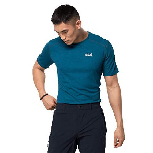 Jack Wolfskin Herren Sky Range T-Shirt, Dark Cobalt, S