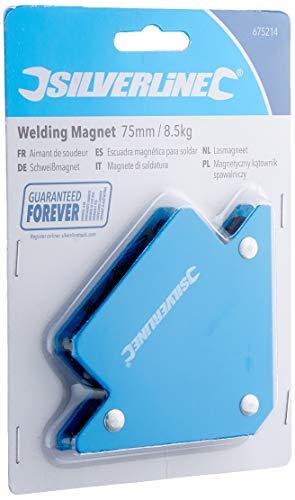 Silverline 675214 - Escuadra magnética para soldar (75 mm)