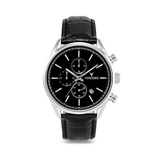 Vincero Luxury Men's Chrono S Wrist Watch – 40mm Chronograph Watch – Japanese Quartz Movement…