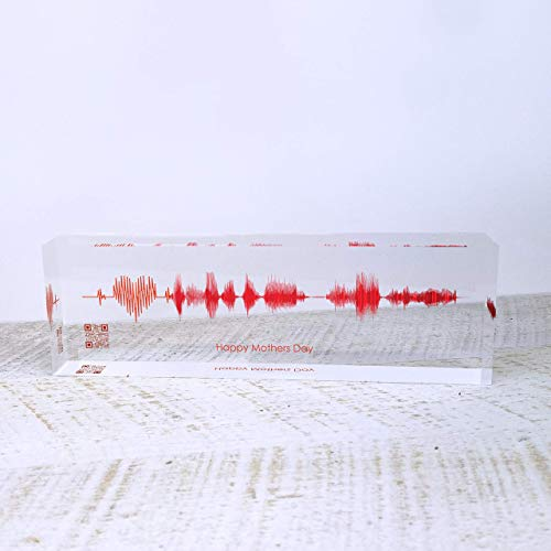 Artblox Soundwave Art Custom Gifts | Any Recording Or Song On Acrylic Block | Unique Birthday Gift | Anniversary Gifts