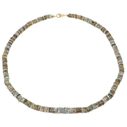 Sogni d 'oro–Collar para mujer collar de oro de 375oro amarillo (9quilates) labradorita