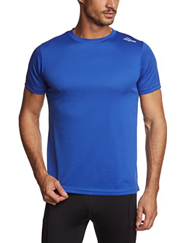 Rogelli Promo - Maglietta da Running a Maniche Corte, da Adulto Blu Blu L