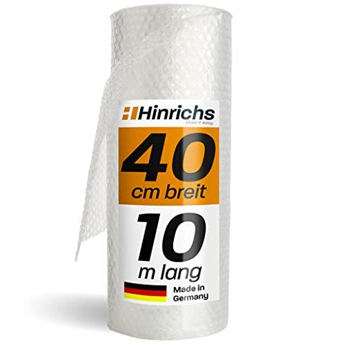 Hinrichs Rotolo di Pluriball Imballaggio 10m - 100% Riciclabile - Pluriball per Imballaggi...