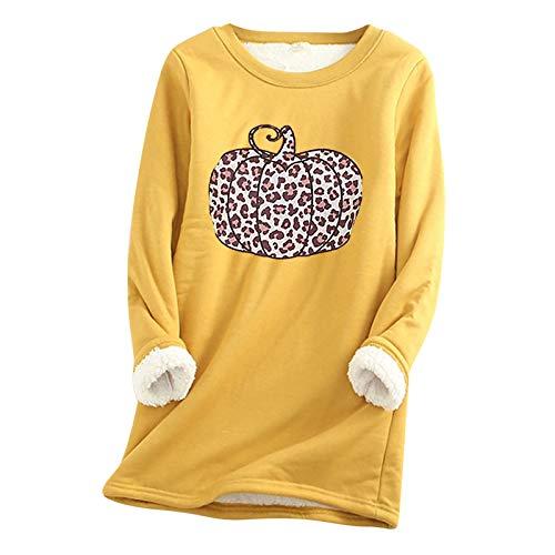 2020 Damenmode Rundhals Warme Unterwäsche Frauen Winter Dickes Fleece Sweatshirt Samt Bottoming Shirt Plus Size Lose Tops