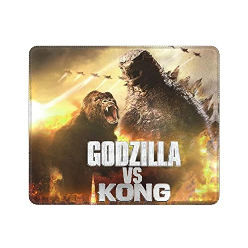 King Kong Vs Godzilla Merchandise Portable Laptop Large Mouse Pads Tokyo Clash Japanese Movie Monster Series Poster 67th for Friends Anime Gaming Mouse Pad for Boys 10 x 12 inch