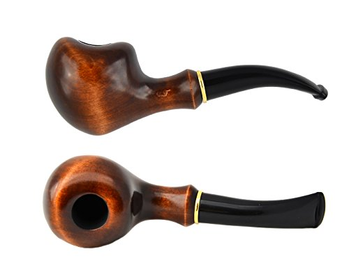 """""""Apple"""" pear tree wood hand made wooden tobacco smoking pipes pipe + Pouch"""