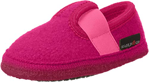 Haflinger Unisex-Kinder Slipper Joschi Flache Hausschuhe, Pink (azalee / 20), 25 EU