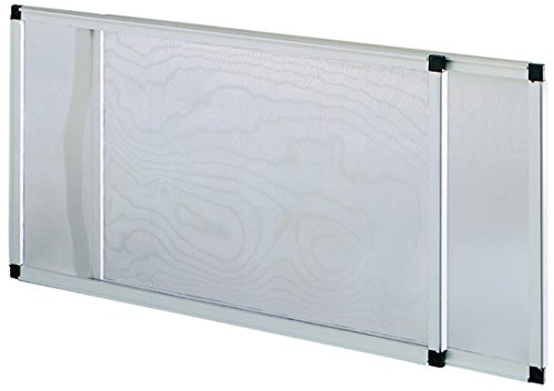 Vigor 75005, eloxierte ausziehbare Moskitonetze, 50 x 40/92 x 40 cm