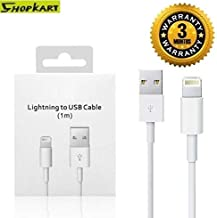 Shopkart ® Fast Data Sync & Charging Cable for iPhone Devices (Pack of 1, White)