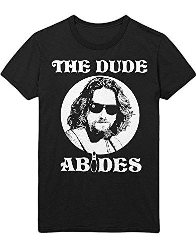 T-Shirt The Big Lebowski The Dude Abides C000006 Schwarz XXXL