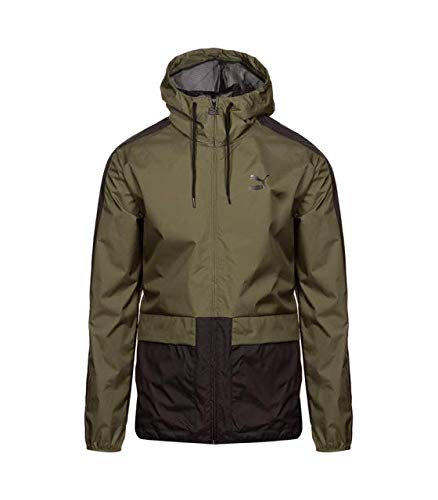 PUMA Archive Logo Windbreaker Olive Night – Weather Protection – Chaqueta cortavientos verde oliva verde oliva S