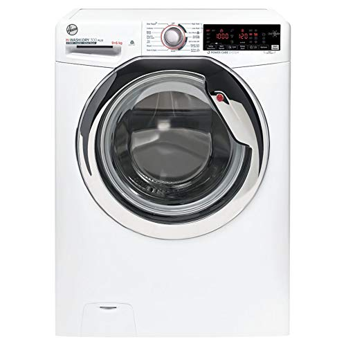 Hoover H3DS696TAMCE 9KG Wash 6KG Dry 1600RPM Washer Dryer- White with Chrome Door