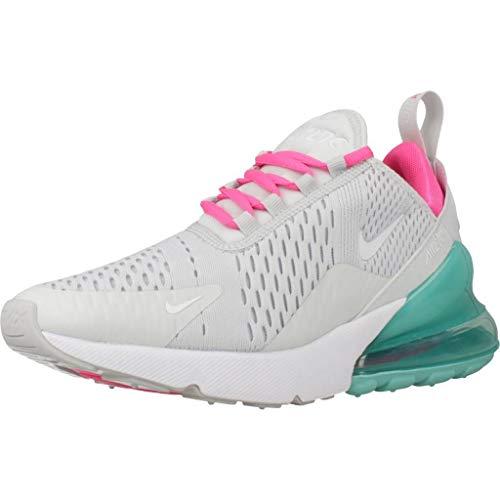 Nike Damen Air Max 270 Leichtathletikschuhe, Mehrfarbig (Pure Platinum/White/Pink Blast 065), 38 EU