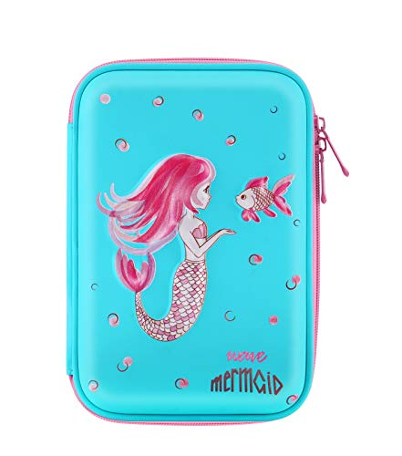 Pencil Case for Girls, Kids, Children - Cute Pink and Blue Color Large Mermaid Pencil Cases – Cool Aesthetic Pencil Holder - Ideal for Kindergarten and School