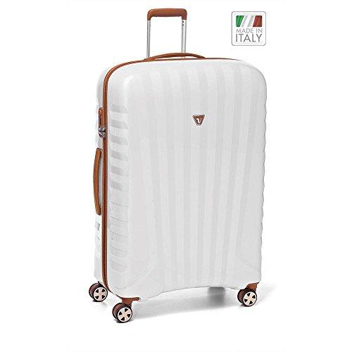 Roncato UNO ZIP Deluxe valigia a 4 ruote 78 cm cuoio perla finish