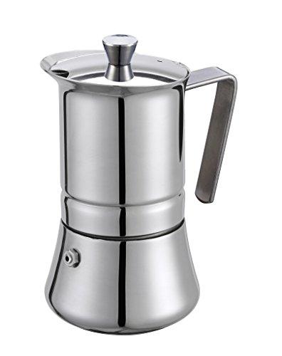 GAT Italy Pratika Espressokocher für 4 Tassen, Edelstahl, 10 x 14 x 16 cm