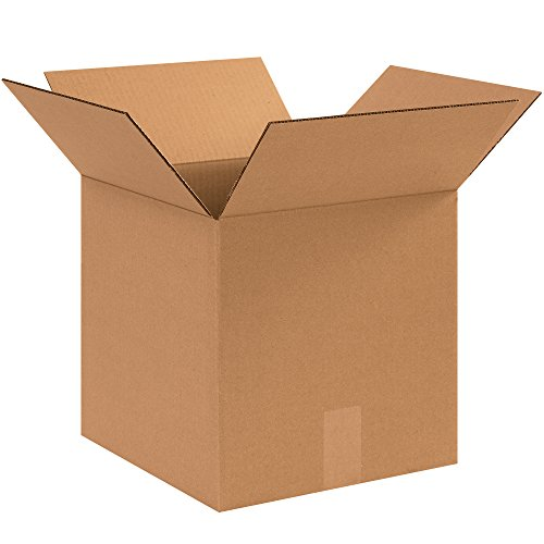 Aviditi 121212 Corrugated Cardboard Box, 12' L x 12' W x 12' H, Kraft, for Shipping, Packing and Moving (Pack of 25)