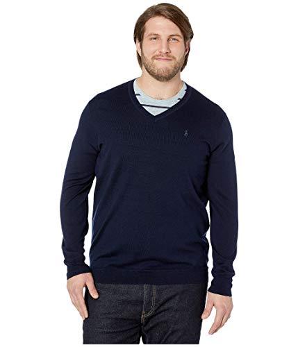 Polo Ralph Lauren Big & Tall Washable Merino Wool V-Neck Sweater Hunter Navy 2XB