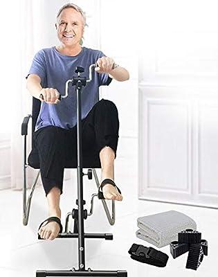 Pedal Exerciser Bike Hand Arm Leg and Knee Peddler Adjustable Fitness Equipment for Seniors, Elderly Home Pedal Exercise Bike for Total Body by NISDOKR