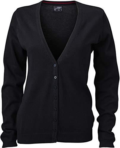 JN660 Damencardigan Strickjacke Damen Cardigan V-Neck XL,Black