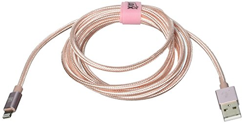 LAX Gadgets Apple MFi Light Cable, Rose Gold, 6 Feet