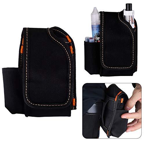 WOLFTEETH Ecig Travel Carry Vape Case, Portable Waist Bag for Electronic Cigarette Box Mod Vape Pen Atomizer Tank RDA RBA RTA, Nicotine Free (Denim Black)