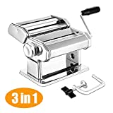 Pasta Maker, Elegant Life Homemade 150mm Pasta Maker Machine All in one 7 Thickness Settings for...