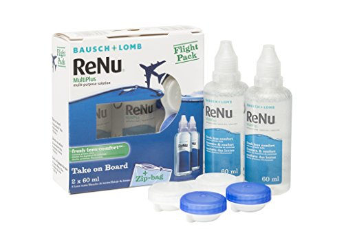 BAUSCH + LOMB - Renu® MultiPlus Solución de Mantenimiento - Kit viaje Pack 2 botellas x 60 ml
