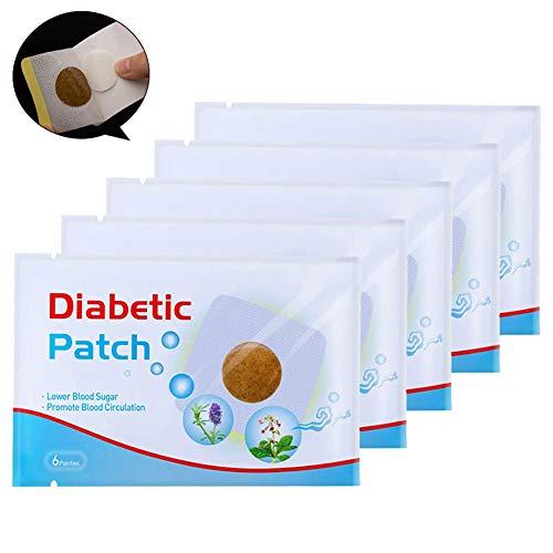 Yuema Nabelaufkleber Patch Blutzuckersenkung, natürliche Kräuterheilung medizinische Pflaster, die Durchblutung fördern, den Blutzucker Balance halten