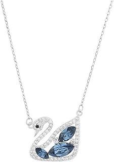 Fashion Crystals - Collar con Cristales Auténticos para Mujer - Collar Cisne Fantasía - Baño de Oro, Oro Rosado y/o Rodio-...