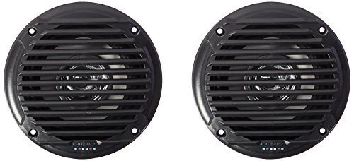 Jensen MS5006BR Black 5.25' Dual Cone Waterproof Speakers