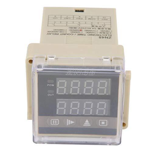 Zeitrelais, ZN48 Digitaler Zeitrelaiszähler Multifunktions-Drehzahl-Frequenzmesser AC220V