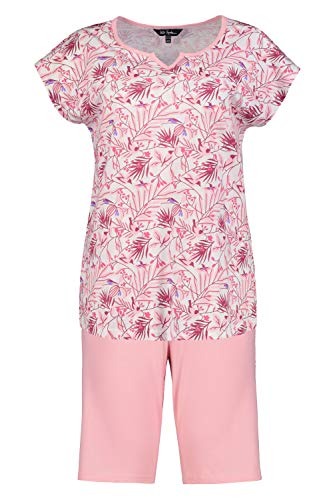 Ulla Popken Shorty, Flamingo, OCS Juego de Pijama, pastellorange, 46 más para Mujer