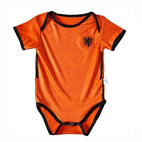 YONG Juego Local/Visitante 2020-2021 Camiseta De Fútbol Chico Chica Body Onesies para De Body De Bebé Fanáticos,Naranja,9 Yards