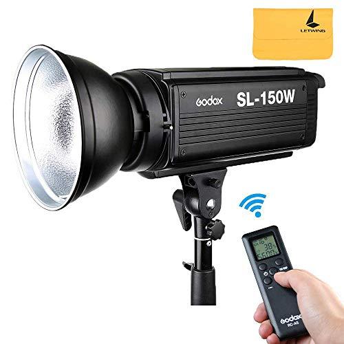 Godox SL-150W 5600K LED Videoleuchte Studio Weiß Version LCD Panel Kontinuierliche Ausgabe Bowens Mount Studio Licht (SL150W)