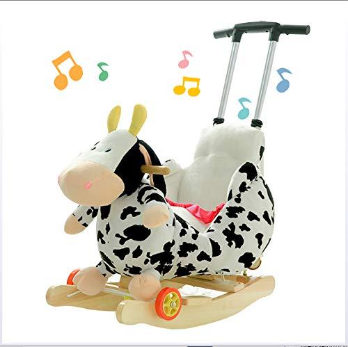 JTYX kinderen schommelpaard met muziek gordel multifunctionele baby schommelstoel wasbaar verstelbare Putter verjaardagscadeau