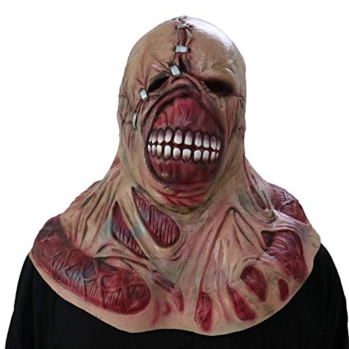 MEETGG Resident Evil Nemesis Mask Zombie Full Head Latex Helmet Game Cosplay Prop Fancy Dress Disfraz de Halloween