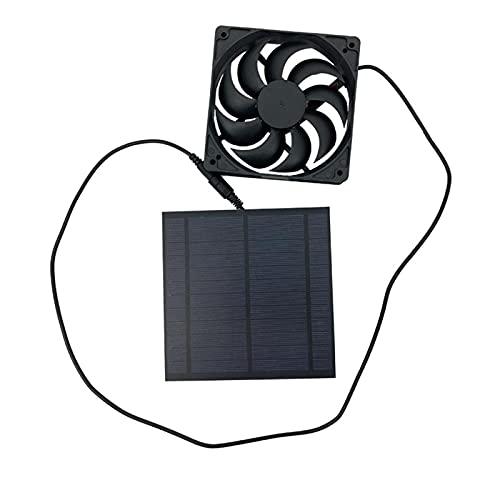 Doorslay Ventilador Alimentado por Panel Solar de 5W Mini Ventilador de Escape Solar de Polisilicio para Invernadero Autocaravana Casa de Pollo Senderismo Camping