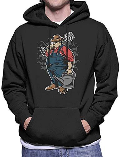 lifangtaoT Herren Hoodie Kapuzenpullover, Fat Farmer Men's Hooded Sweatshirt