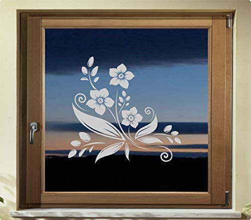 rs-interhandel® Folie Fenster Tattoo Aufkleber, kein Sichtschutz, Fensterfolie Glasdekor Deko Window wasserfest selbstklebende Folie GD40